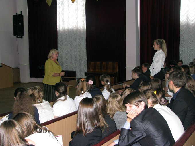 Meeting with the Senior Students