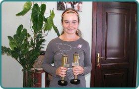 Спортивні досягнення учениці 8-А класу Снігур Дар'ї з великого тенісу