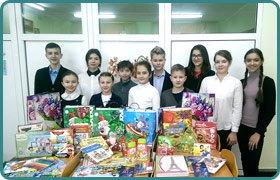 Проведення благодійної акції Подаруй дитині свято від учнів Скандинавскій гімназії
