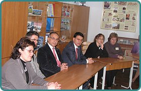 Teachers from Turkey in the Gymnasium